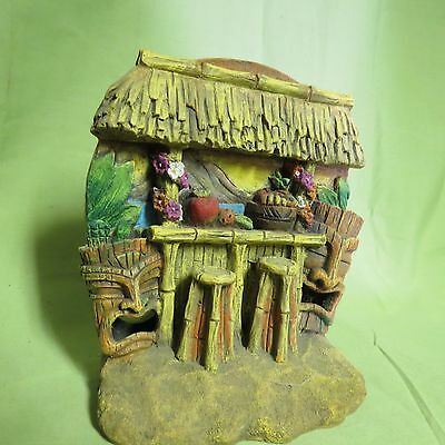 Tiki Bar Penn Plax Resin Ornament, Fish, Crab, Reptiles , Miniature Garden