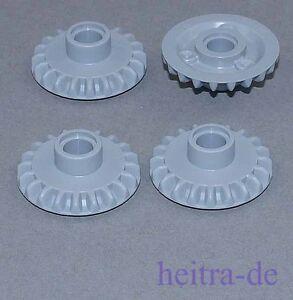 LEGO-Technik-4-x-Zahnrad-mit-Pinloch-hellgrau-20-Zaehne-87407-NEUWARE
