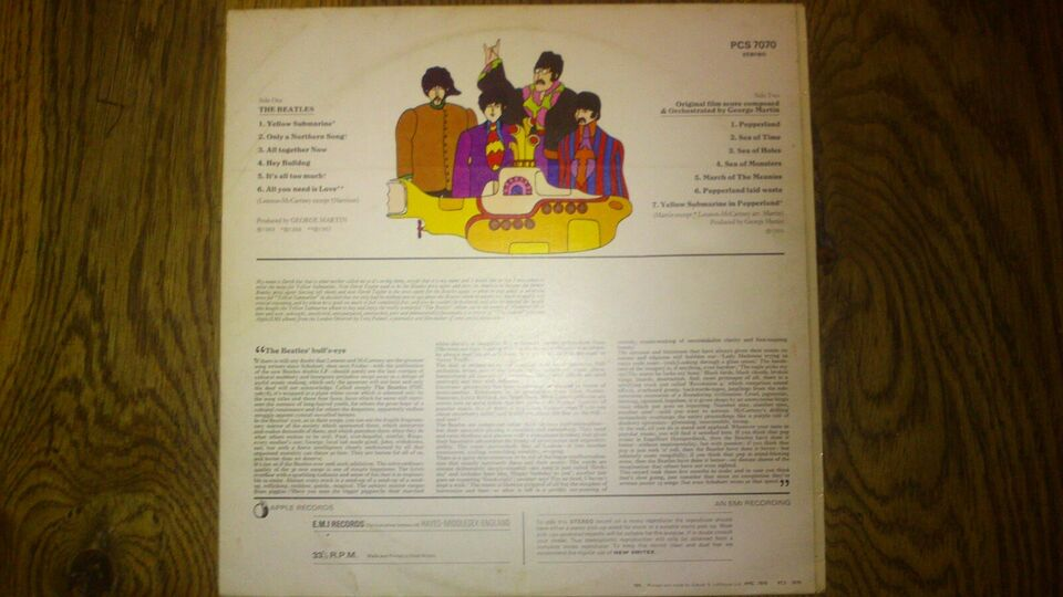 LP, Beatles, Yellow Submarine