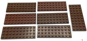 BROWN 1x2 Plate with Slope on Half Brick Bricks ~  Lego  ~ NEW ~ 10