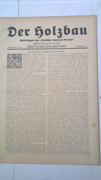 1921 Der Holzbau 17 / Haus Möller Wachwitz / Nohl In Hagen Fichtner Aus Dresden Weitere Rabatte üBerraschungen