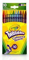 Crayola 10 Twistables Coloured Crayons Pencils coloured Twistable Colouring UK