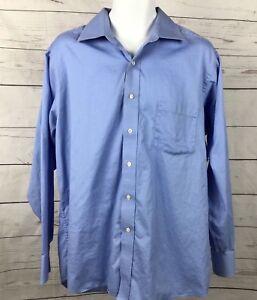 Donald-Trump-Sign-Collection-Lt-Blue-Dress-Shirt-Sz-17-34-35-Long-Sleeve-Cotton