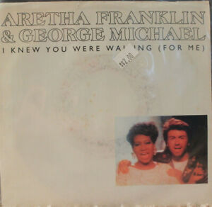 Aretha-Franklin-amp-George-Michael-I-Knew-You-Were-Waiting-For-Me-45-rpm-Record
