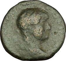 HADRIAN Bisexual Emperor BIG Ancient Roman Coin Annona Produce of year i40216