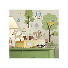 WOODLAND ANIMALS Wall Stickers 89 Decals Owl Deer Tree Turtle Birds  Scrapbook Part 52