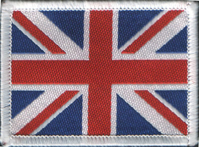Union Jack UK Flag Woven Badge Patch Motif 98mm x 48mm IRON ON