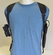 "SHOULDER HOLSTER for TAURUS 608 -627 6 1/2"" Barrel with Dbl Speedloader Pouch"
