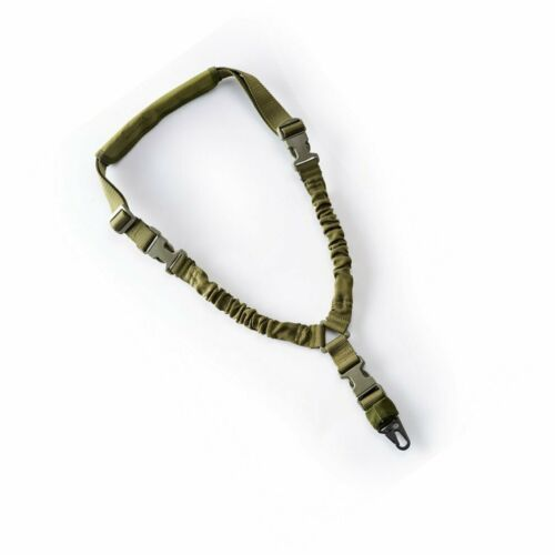 Single Point Bungee Sling Climbing Rope Safety Lanyard Quick Release Tactical li