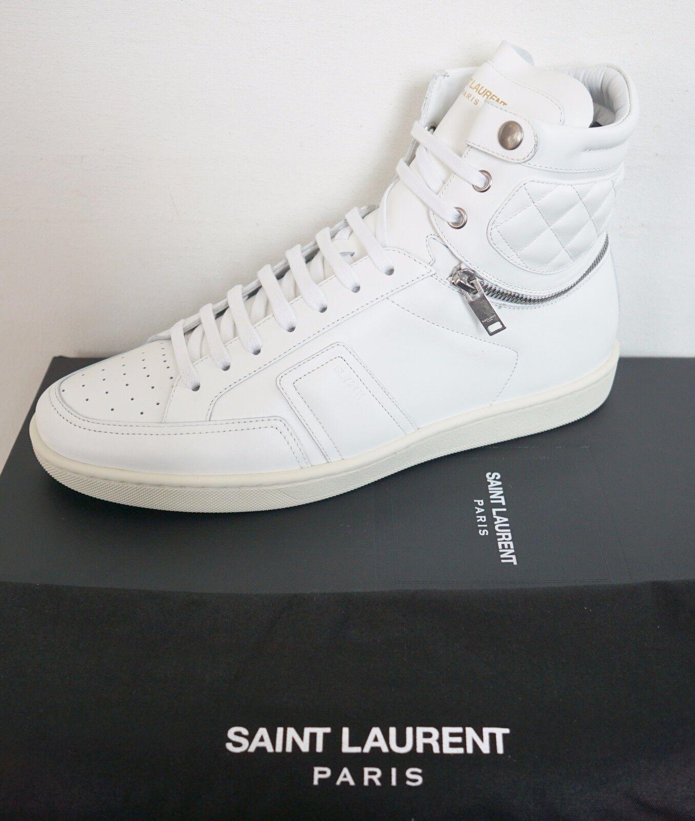 New SAINT LAURENT Paris SL34H Leather MOTOCROSS HIGH-TOP Sneakers EUR-40 US-7