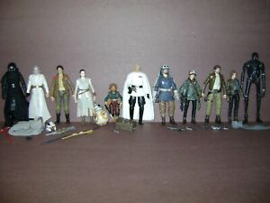 Star Wars Black Series Figure Lot ROGUE ONE FORCE AWAKENS Rey BB8 Poe Kylo K-2SO