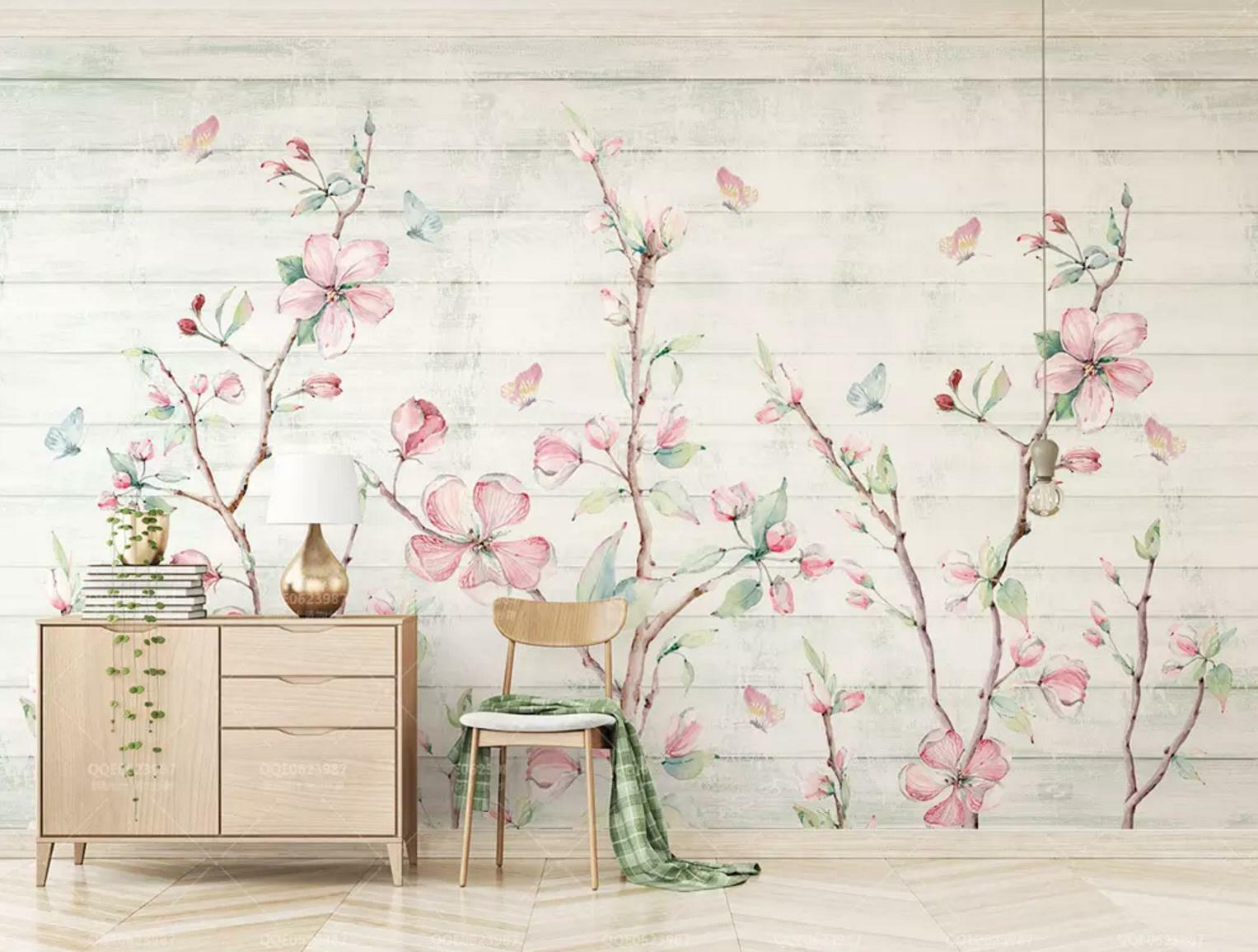 3D Flower Branch 5 Wall Paper Exclusive MXY Wallpaper Mural Decal Indoor wall AJ