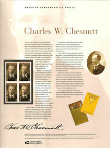 #809 41c Charles W. Chestnut #4222 USPS Commemorative Stamp Panel
