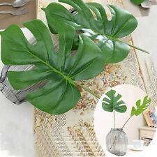 Wedding Decor Hot Fake Monstera Artificial Leaves Large Palm Green Plants