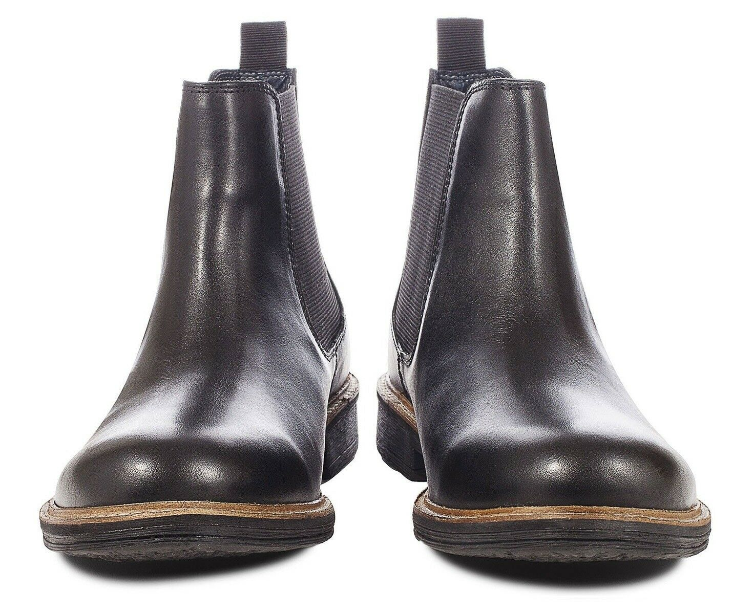 Herren ROTfoot Baxendale Chelsea Stiefel Glatt in Leder Stiefel Slip Gr.42 in Glatt Schwarz f59012