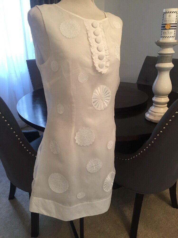Size 14 Warehouse Warehouse Warehouse Unique Rare White Silk Dress Timeless STUNNING Wedding Party 149b12