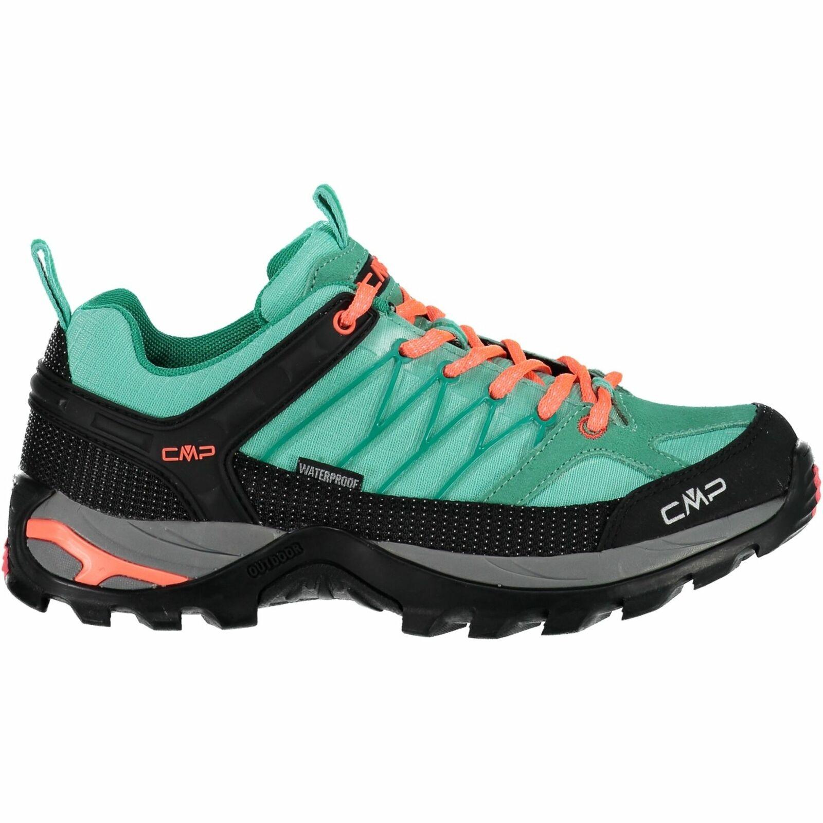 CMP trekking zapatos Al  aire libreschuh Rigel low WMN trekking zapatos WP turquesa Mesh  Envío rápido y el mejor servicio