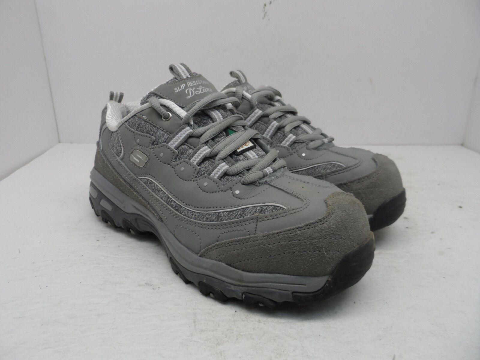 SKECHERS Women's Aluminum Toe Steel Plate Work Athletic Slip Resistant Shoe 7M