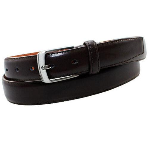 Donna Jeans Uomo Cintura Marrone 2,8 cm di larghezza patinata fessura in pelle