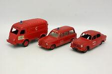 CIJ 1/43 - Lot de Peugeot 403 Commerciale + Renault 1000KG + 403 Norev Pompiers