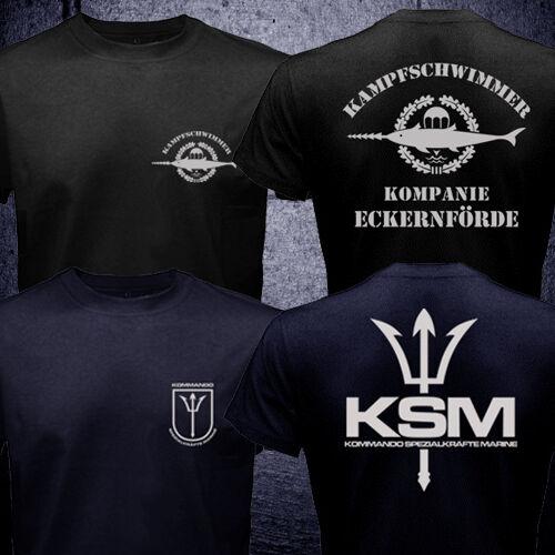 L/'Allemagne forces spéciales Kampfschwimmer KSM Kommando Spezialkräfte Marine T-Shirt