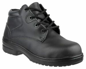Ladies Womens Leather Steel Toe Cap Safety Work Ankle Boots Trainers Shoes Size