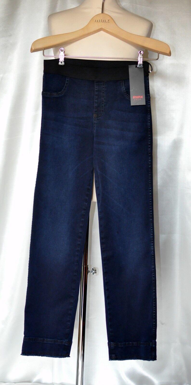 Minx Taglia 36 Stretch Jeans abbreviata Holma Holma Holma Jeans Denim Blu Nuovo be8b8b