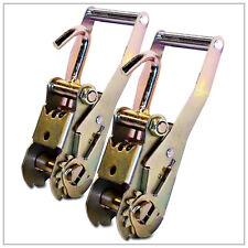 2 RATCHET HANDLES w/ FINGER HOOKS TOW DOLLY STRAPS