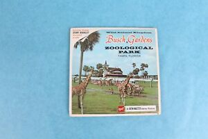 VINTAGE VIEW-MASTER 3D REEL PACKET A979 BUSCH GARDENS ZOOLOGICAL PARK COMPLETE