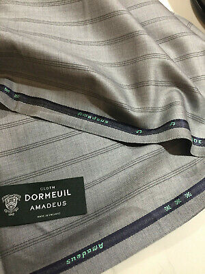 DORMEUIL /'AMADEUS 365 JACKETING/' BLACK//GREY WOOL JACKETING FABRIC 2.5M CHECK