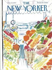 COVER ONLY The New Yorker magazine ~ October 23 1971 ~ GETZ ~ Fruit &  Veg Stand