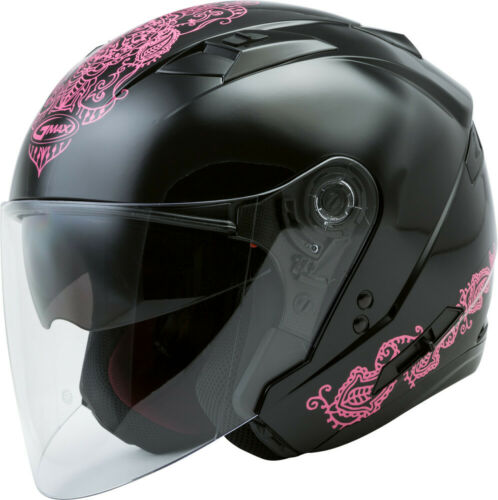 GMax OF-77 Open-Face Eternal Helmet Black//Pink
