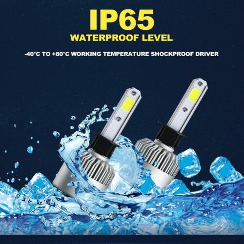 IRONWALLS H1 2000W 300000LM COB LED Headlight Bulbs Kit 6000K High//Low Beam HID