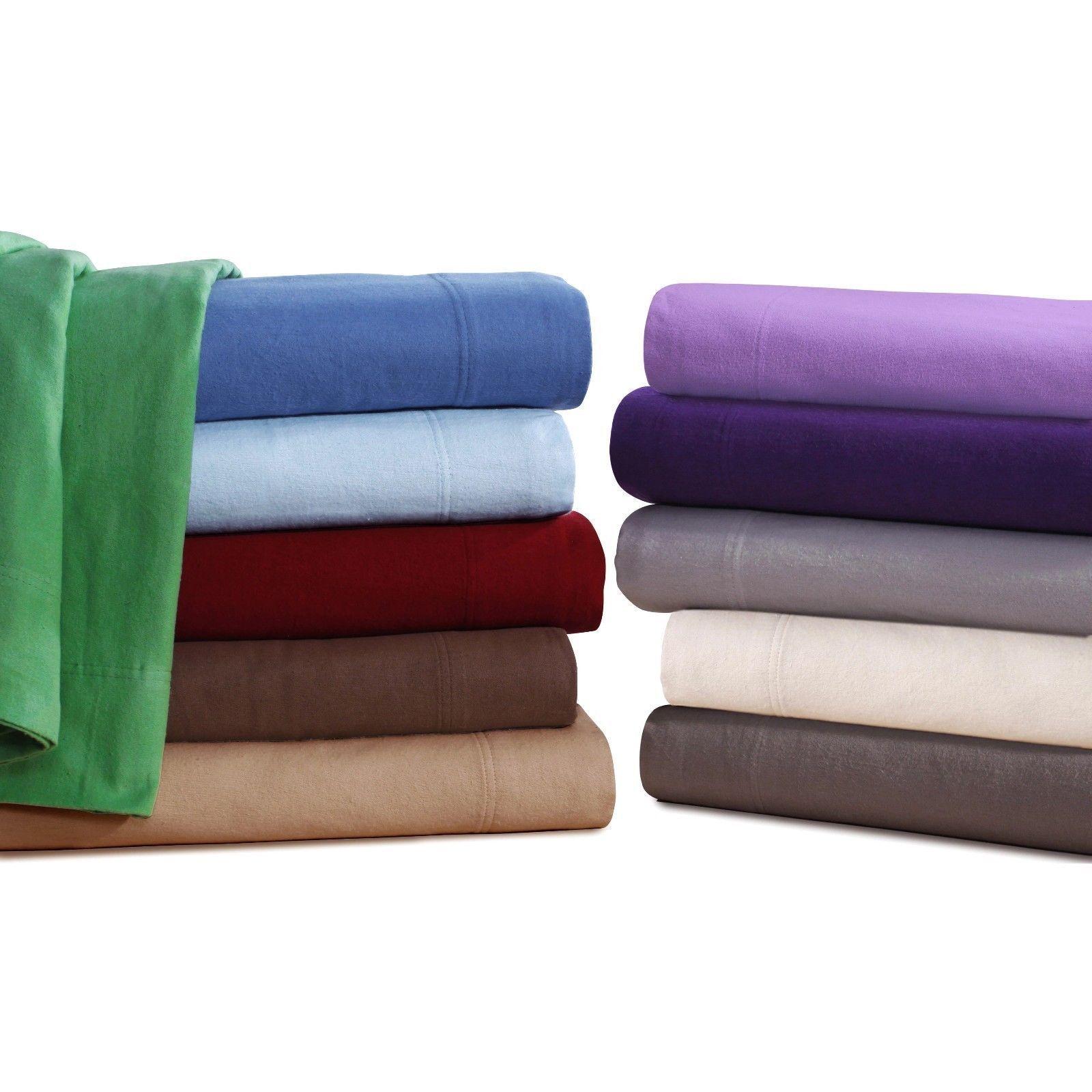 KING Flannel Sheets 5 oz Deep Pocket Ultra Soft Sheet Set 100% Cotton Many Farbe