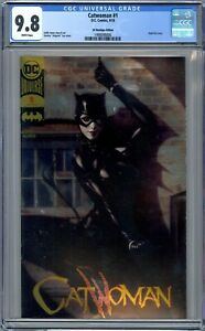 Catwoman #1 CGC 9.8 (Sept 2018, DC) DC Boutique Edition With Gold Foil Cover.