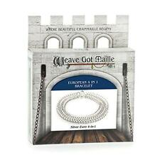 Weave Got Maille European 4-in-1 Chain Maille Bracelet Kit, Silver, New, Free Sh
