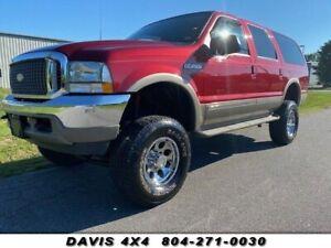 2002 Ford Excursion Suv 4x4 Aumentado Limitada Livre Ferrugem E Baixa Quilometragem Ebay
