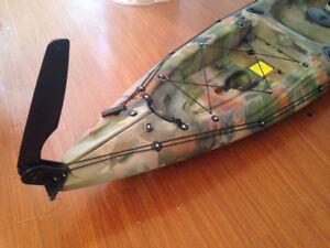 Nylon Glass Fiber Watercraft Canoe Kayak Boat Rudder w/ Steering system