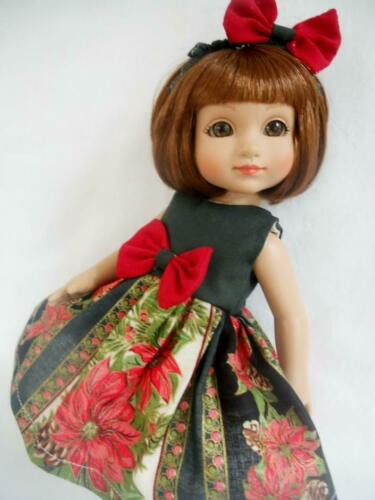 """Christmas POI Doll Dress Coat Bow Set For 14/"""" Betsy McCall"""
