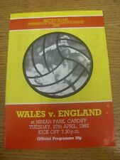 27/04/1982 Wales v England [At Cardiff City] (Folded). Any faults are noted in b