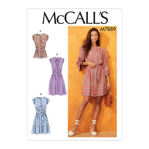 Details about McCall's 7889 Easy Sewing Pattern to MAKE Very Loose Fitting  Tops & Dresses