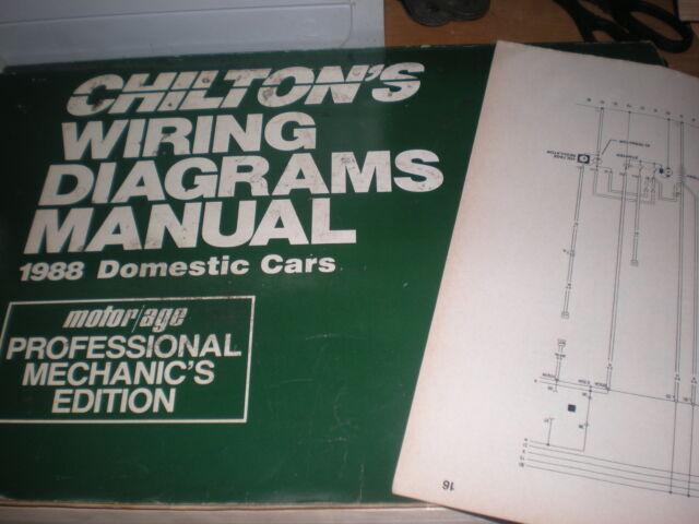 1988 PONTIAC GRAND PRIX WIRING DIAGRAMS SCHEMATICS MANUAL ...