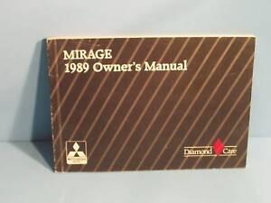 mitsubishi mirage 1989 manual
