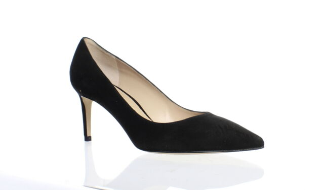 Stuart Weitzman Womens Leigh 70 Black Suede Pumps Size 7.5 (1089577)