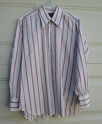 Vintage 70's Givenchy Gentleman Paris Mens LS Dress Shirt Medium