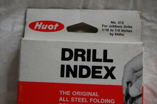 """Huot Drill Index with 13 Drill Bits 1//16/"""" to 1//4/"""""""