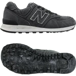 Details about NEW Balance 574 Black Stonewashed Mens Canvas Low Top  Sneakers Shoes New- show original title