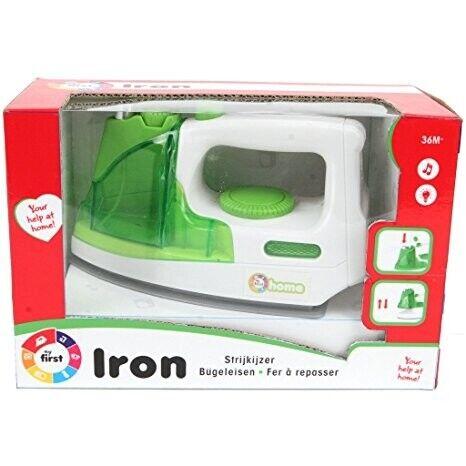 Kaiming Toys Kinder Bügeleisen Weiß Grün mit Funkt