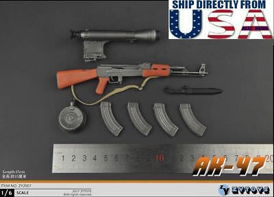 "1//6 Scale AK-47 Assault Rifle For 12/"" Hot Toys Figure Body"