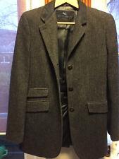 Etro Vintage Etro navy wool tweed jacket with navy silk collar, size 44,